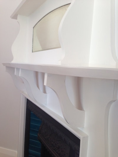 Timber fire places look great painted in a semi gloss paint finish.